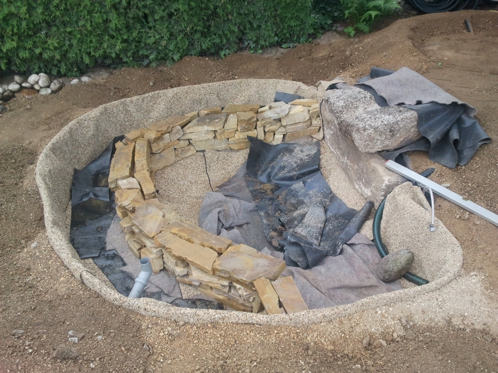 Gartengestaltung mit wasser und steinen for Blumen gartengestaltung